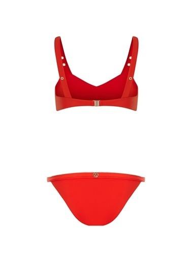 Sand and Blue Dahlia Bikini Kırmızı